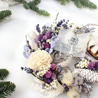 <Purple winter> Christmas wreath │ wreath │ candle │ Christmas │ exchange gifts