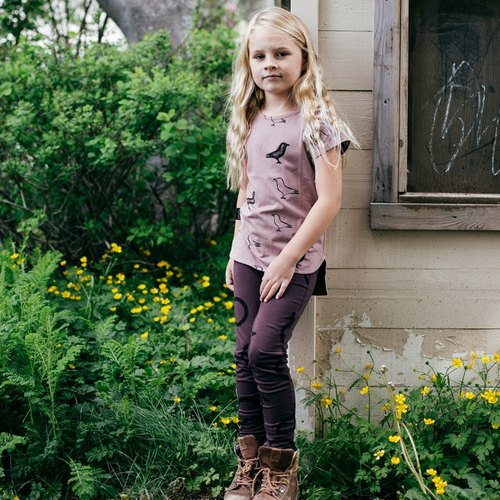Nordic organic cotton children's Dadu duck circle leg pants red