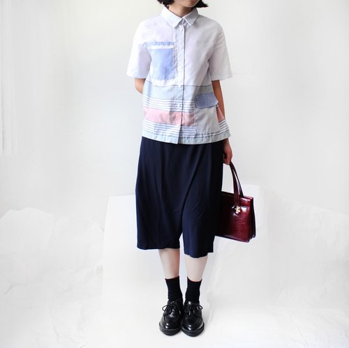 4.5studio- independent hand-made by A- light blue shirt pocket more