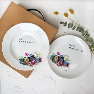 Christmas gift / custom - fish you are in the gift box group 8 bone china plate 2 into the box