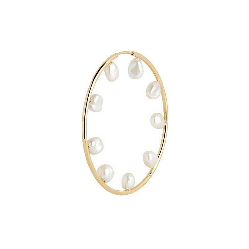 Baroque 巴洛克50珍珠耳環 單支