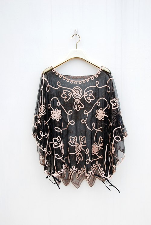 Vintage transparent cape