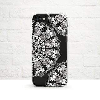 Lace Doily, White, Clear Soft Case, iPhone X, iphone8, iPhone 7, iPhone 7 plus, iPhone 6, iPhone SE, Samsung