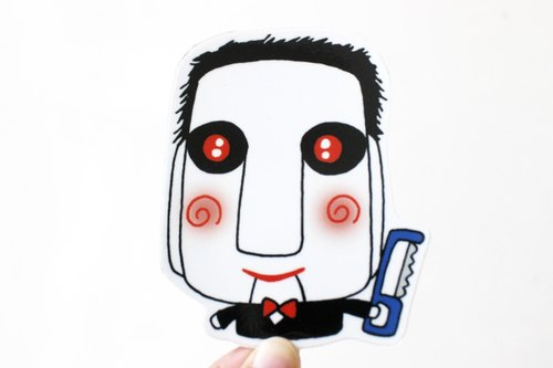 Waterproof stickers (large) _ bad guy 05 (Soul Saw)