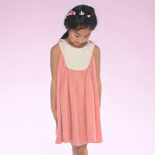 Ángeles-Double Shoulder Buttons Dress (2A-6A)