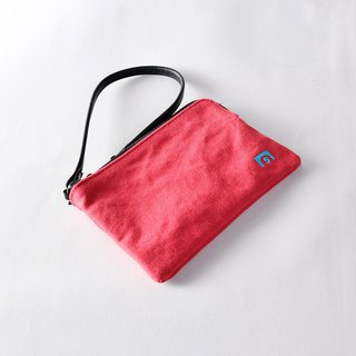 Clutch bag - LEAF red