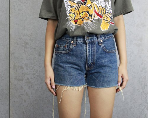 Tsubasa.Y ancient house blue 004 Levi's denim shorts, short jeans