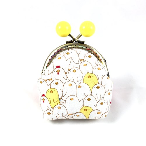 Little Rainbow candy mouth head gold coin purse - chick heap