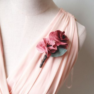 Corsages - Groomsmen Bridesmaid Flower boutonniere brooch Corsage (BT026)