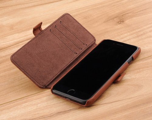 STORYLEATHER made i8 / i7 (4.7 inch) Style i75 hard shell side turn Lingge leather case