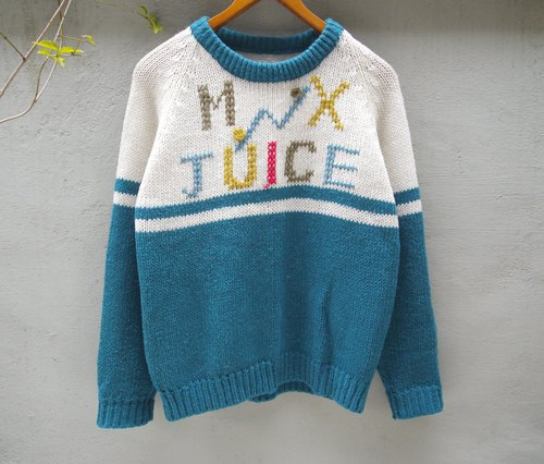 FOAK vintage turquoise sweater Comprehensive juice