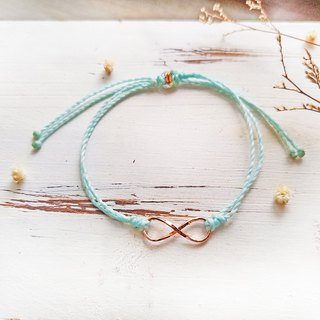 [Infinity] silk wax rose gold braided hand rope