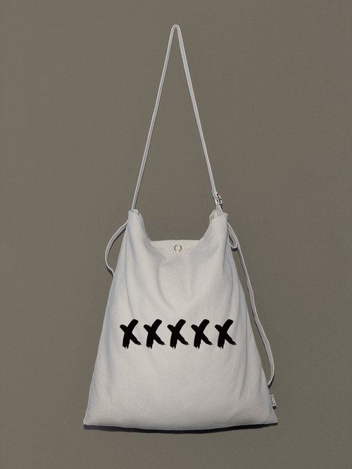 Guest text ● canvas bag graffiti body original design - portable shoulder adjustable length