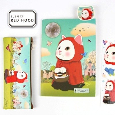 JETOY, sweet cat B5 notebook (bar 64p) _Red hood (J1603101)
