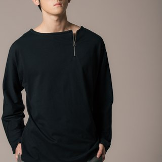 8 lie down_ with sleeve zipper T