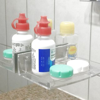 Magnetic dressing stickers _ half-height storage box - transparent