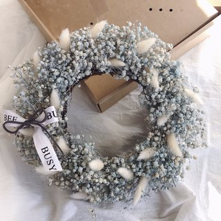 {BUSYBEE} White Christmas starry dried wreath Christmas gift Christmas wreath (with box)