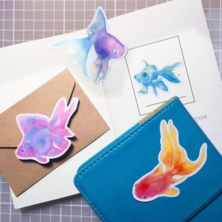 goldfish sticker set (4piece)
