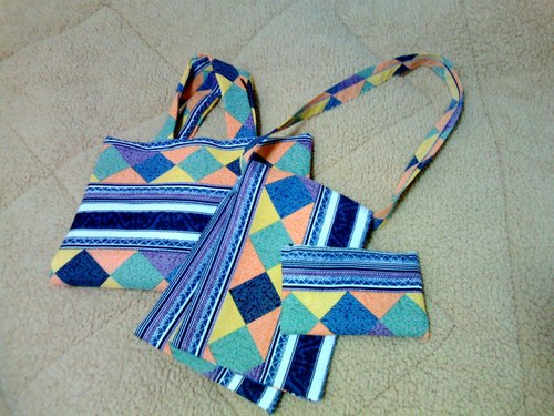 RHOMBUS SET OF BAGS (tribal totem motif)