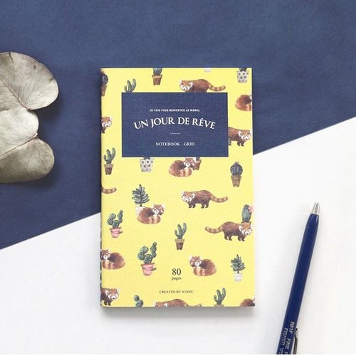 Iconic - tropical style karaoke notebook - red panda, ICO87595