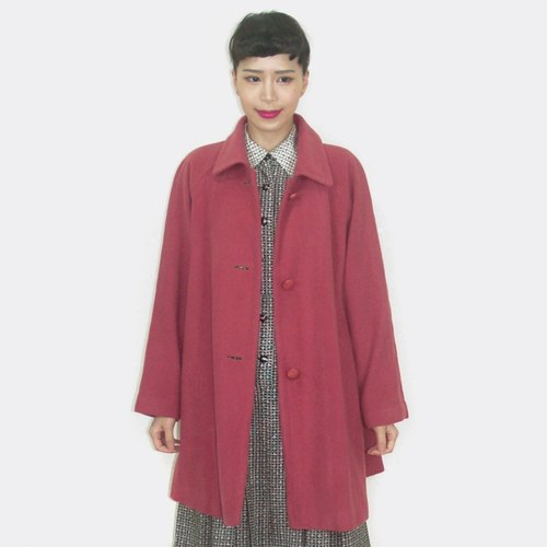 (Limited time special) rose red vintage wool coat AU3020