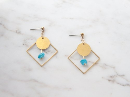 Turkish gravel earrings / pure brass / permanent color retention / Stainless Steel Ear