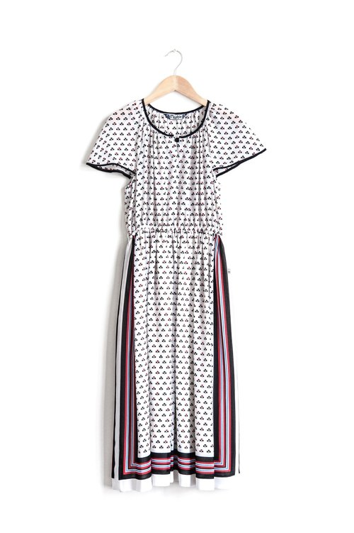 Vintage Raglan Sleeve Dress