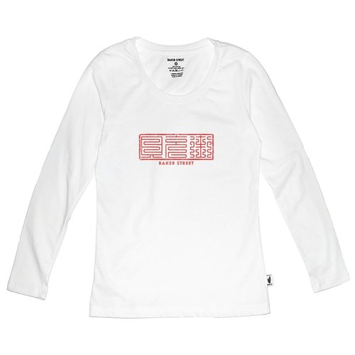 British Fashion Brand 【Baker Street】Chinese fonts Long Sleeve