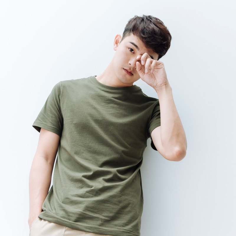 hao Khaki Green Cotton T-Shirt 卡其綠純棉Tee