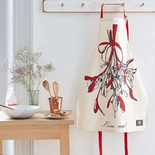 English Egg Organic Cotton Apron Mistletoe