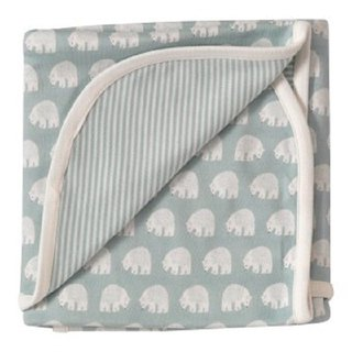 100% Organic Cotton Blue Polar Bear Baby Towels British Brand