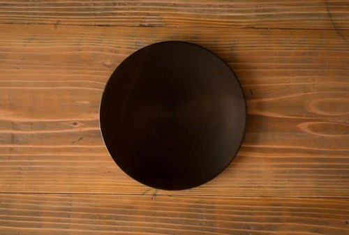 Wipe lacquer wooden plate horse chestnut (chestnut) black 24cm