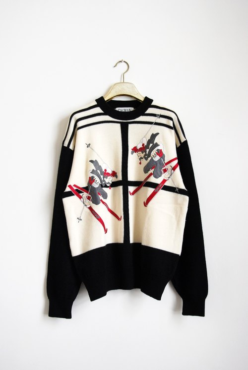 Vintage Ski duo sweater