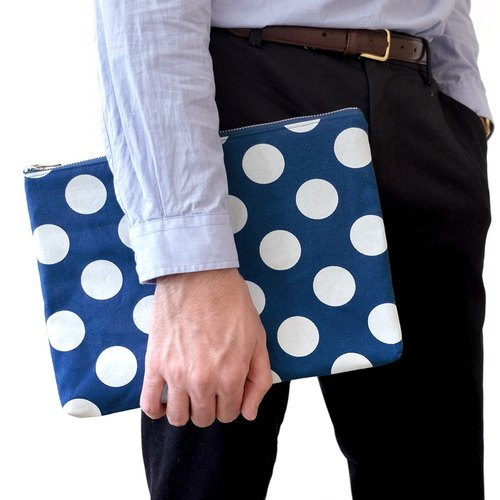 BIG DOT INDIGO COMPACT CLUTCH