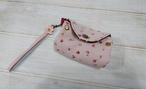 Three pink small floral purse / Christmas gift exchange