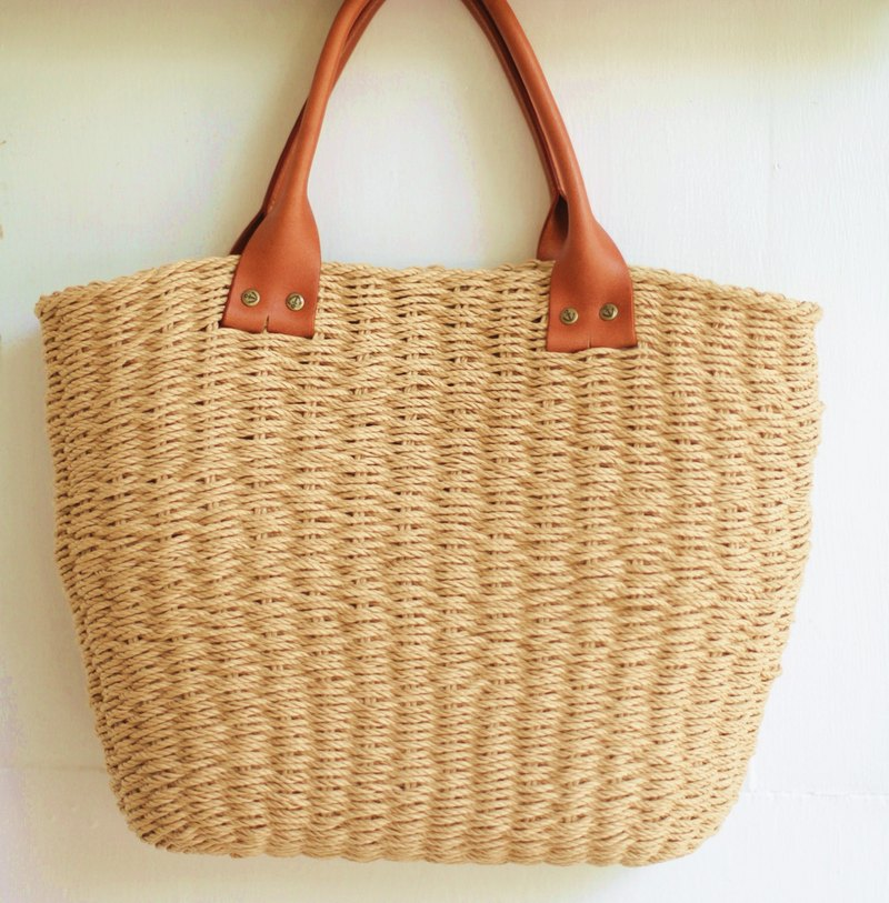 Handmade Handmade. hand made. Summer French rattan basket