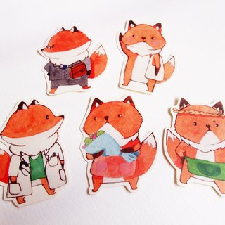 Fox everyday stickers