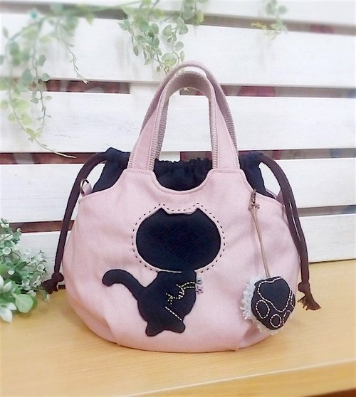 Wonderland22 Dropped Handbag (Walking Cat) |