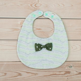Hillside Bow Round Pocket Bib Twist Towel Eight Layers Yarn