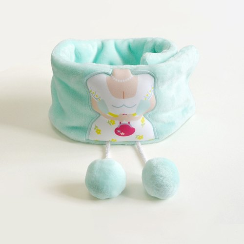 My dream princess warm winter cute plush balls scarf scarves handmade Sen female