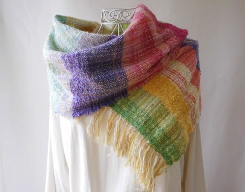 (Primrose) hand-woven cotton, cashmere Long stall