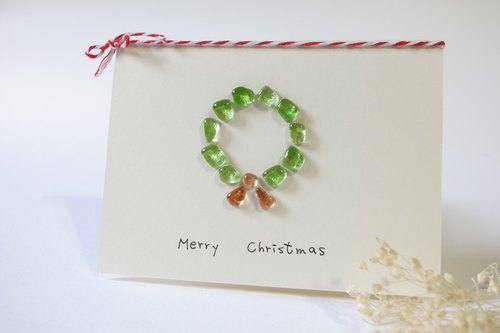 Highlight also to | Christmas wreath card was a small glass