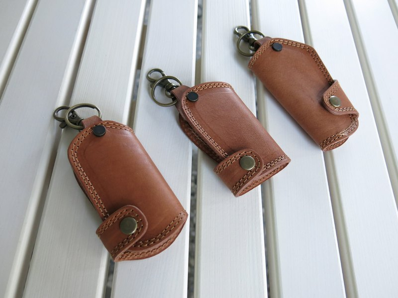 Piece of LBT double double line car key bag. Handmade. Three styles to choose [jane_one_PIECE]