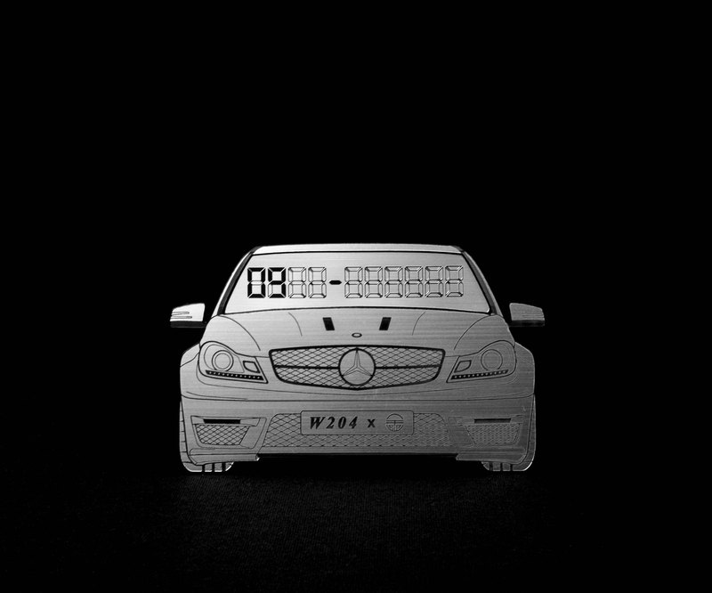 [Mercedes-Benz W204 C-Class] exclusive hair temporary parking card number