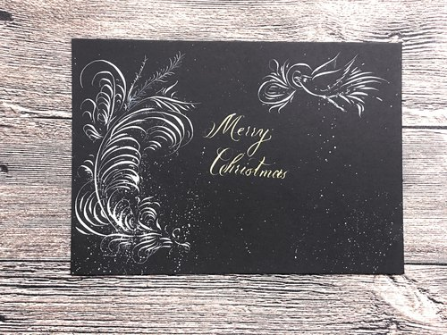 Free name plus a handwritten English Calligraphy Christmas Customized