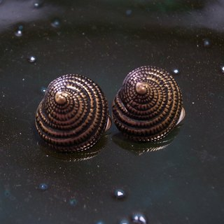 Retro sea screw clip earrings