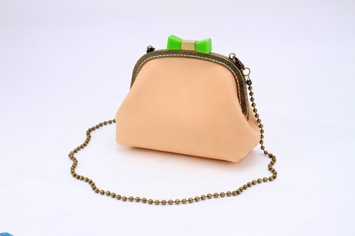 [Cut line] doctor bag bow knot mouth gold handbag tattoo leather leather ladies shoulder bag
