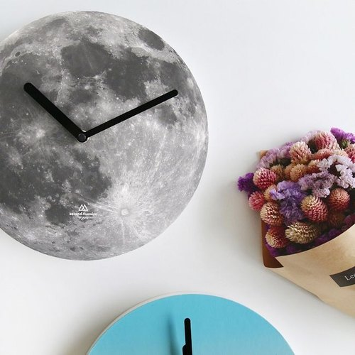 Knockout -Second-Mansion-Nature Series Design Wall Clock - Moon Moon, PLD67472