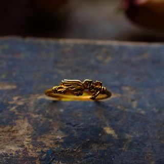 Vintage Gold-plated Ring-Birds
