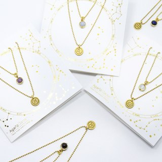 Constellation symbol ore double thin chain